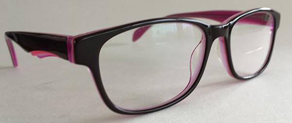Pink eyeglasses front
