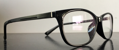 eyeglasses in black, oval