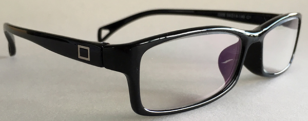 Black rectangular frames