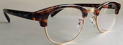 Browline clubmaster frames 3-4 view