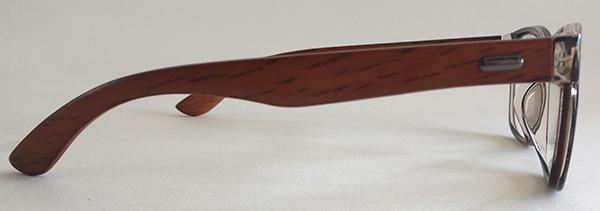 cheap wooden eyeglasses side