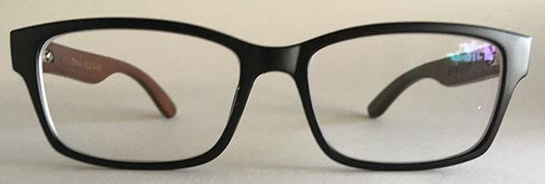 Wooden eyeglass frames