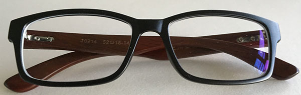 Wooden eyeglass frames