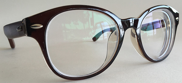 Round wooden glasses