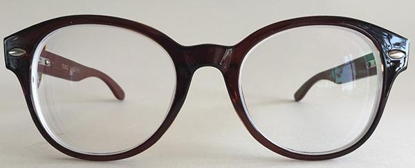 Round wooden eyeglasses
