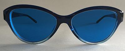 cateye blue tint frames