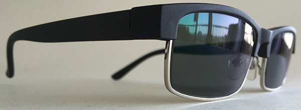 Men's half rim sunglasses