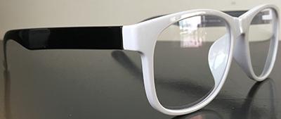 Retro wayfarer white frames