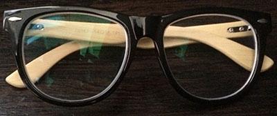 Black Wayfarer Eyeglass frames front