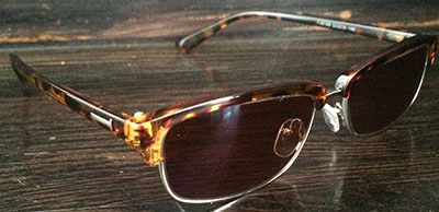 Black Wayfarer Eyeglass frames side view