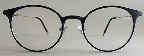 retro eyeglass frames black