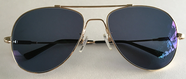 Aviator prescription sunglasses frt