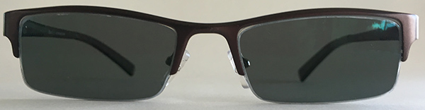 Half Rim Frames for Men -Burgundy Front sunglasses