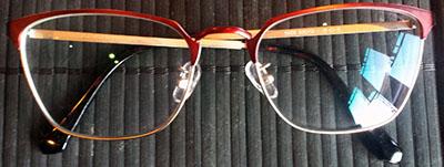Prescription glasses catseye frames