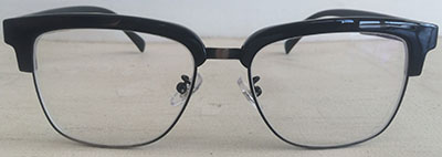 Browline prescription eyeglasses