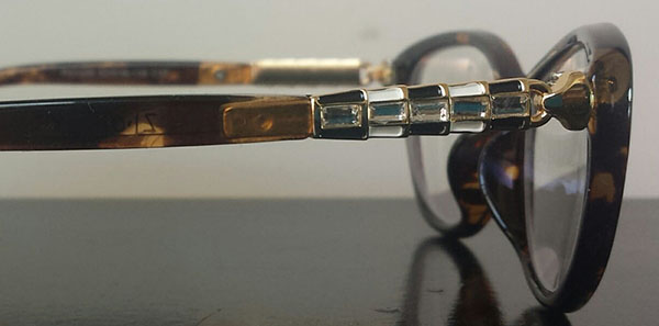 cat eyeglasses close up details