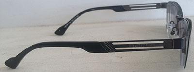 Half rim prescription   glasses with clipon side