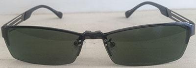 Half Rim   Prescription Eyeglasses with clipon front