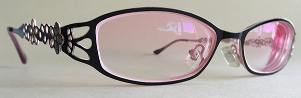 Vintage filigree eyeglasses - Pink