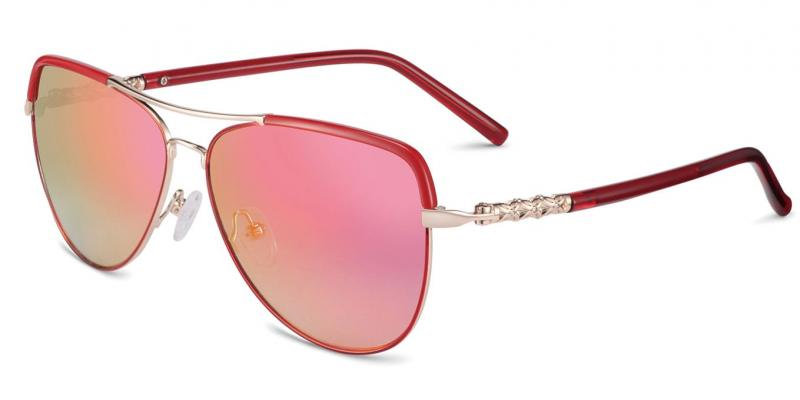Red - Rhinestone aviators