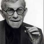 George Burns wearing his round black glasses