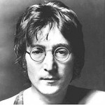 John Lennon's classic round glasses, wire rimmed..