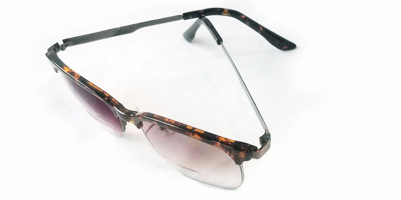 half rim retro prescription glasses