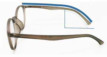 Eyewear Insight low bridge glasses temple curve