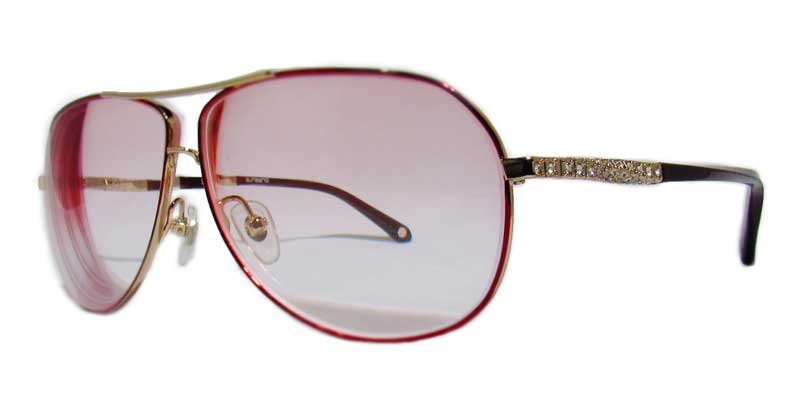 aviators with red tint